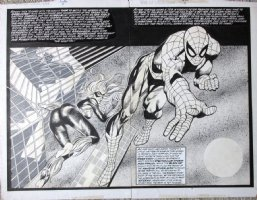 BEACHUM, MARK - Web of Spider-Man Annual #4 Double-Splash, Spidey & Black Cat Comic Art