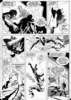 BAKER, KYLE - Web of Spider-Man #13 pg 12, Black Spider-man in action Comic Art