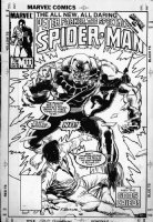 BUCKLER, RICH - Spectacular Spiderman #111 cover, Black Spider-Man, Beyonder, Puma Comic Art