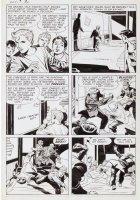 KIRBY, JACK / JOE SIMON - Adventures Of The Fly #1 2-up pg 2, 1st App / Origin 1959 Comic Art