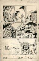 HOPPER, FRAN ?/ RUTH ATKINSON ? - Jungle Comics 1946 sample page, brunette Camilla Jungle Queen Comic Art