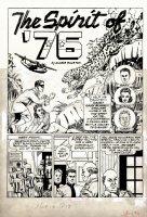 POWELL, BOB - Green Hornet #10 pg 1 Superhero: Spirit of '76  1942 Comic Art
