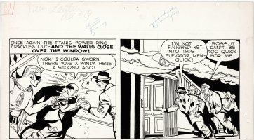 HASEN, IRWIN - All American #89 top pg tier, Green Lantern uses ring to stop crooks 1947 Comic Art