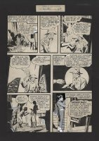 RABOY, MAC - Master Comics #33 lrg pg, Capt Marvel Jr story, Capt Nazi strikes  Comic Art
