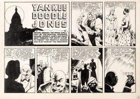 SULTAN, CHARLES - Yankee Doodle Jones & Dandy Sunday page, Chesler/Dynamic Comics, Patriotic Super-Heroes 1941 Comic Art