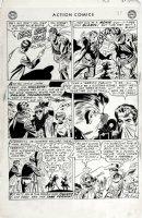 SHERMAN, HOWARD - Action Comics #198 last pg, Vigilante as film star 1954 Comic Art