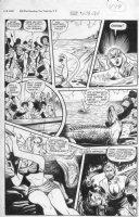 BAKER, MATT / JACK KAMEN - Fight #53 2up pg 6, Tiger Girl speared & gator bate + her tiger & pal Abdula Comic Art