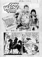 FRAZETTA, FRANK / AL WILLIAMSON - John Wayne #7 2up Splash pg 1, large image! Comic Art