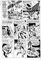 SIMON, JOE with JACK KIRBY - Fighting American #2 larger last pg 5, 1950s Patriotic hero 1965-66 Comic Art