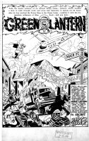 HASEN, IRWIN - Green Lantern #37 pg 1, Splash with GL logo Comic Art