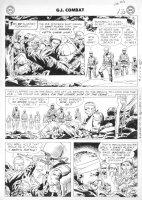 KUBERT, JOE - GI Combat #56 2-up last pg, 1st Rock prototype, DI & Sandfleas Comic Art