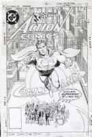 MOORE, ALAN - CURT SWAN / MURPHY ANDERSON - Action Comics #583 Front cover, Sold... to one of the nicest collectors in the hobby! Comic Art