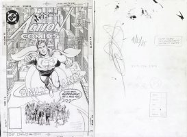MOORE, ALAN - CURT SWAN / MURPHY ANDERSON - Action Comics #583 cover art, final Superman - SOLD... to one of the nicest collectors in the hobby! Comic Art