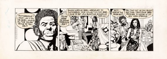 LONGARON, JORGE - Friday Foster daily, Friday gets modeling proposal 10/27 1970 Comic Art