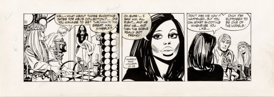 LONGARON, JORGE - Friday Foster daily, Friday tells Shawn & Chloe about proposal 10/28 1970  Comic Art