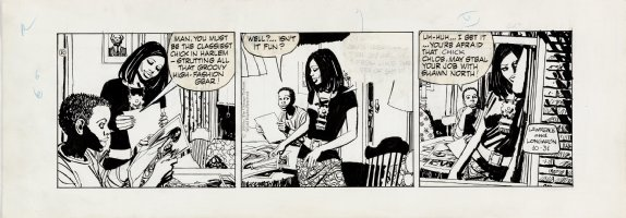 LONGARON, JORGE - Friday Foster daily, Friday worries about losing out to Chloe 10/31 1970  Comic Art