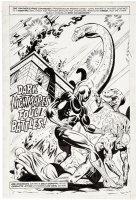 GRAHAM, BILLY & AL MILGROM - Jungle Action #17 UK Splash, Black Panther vs Killmonger forces 1976 Comic Art