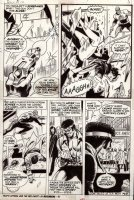 GRAHAM, BILLY / GEORGE TUSKA - Luke Cage, Hero For Hire #12 pg 3, Power Man, Spidey looking villain escapes Comic Art