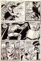 GRAHAM, BILLY / GEORGE TUSKA - Luke Cage, Hero For Hire #12 pg 15, Power Man vs Spidey looking villain Comic Art