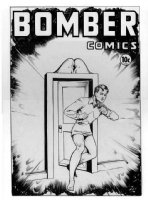 BAKER, MATT - Bomber Comics #5 cover from the never published Golden Age comic - starring Wonder Boy, Spring 1945, published by Gilberton/Classics Comic Art