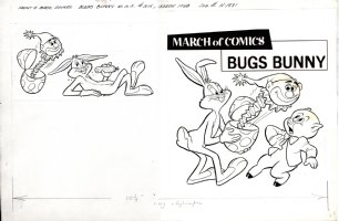 HEIMDAHL, RALPH - March of Comics #315 wraparound cover, Bugs Bunny scares Porky Pig w/ Easter Jack in the box, 1968  Comic Art
