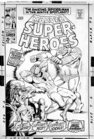 ANDRU, ROSS / BILL EVERETT - Marvel Superheroes #14 2-up cover, Amazing Spider-Man #57 - drawn 1967 Comic Art
