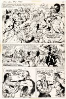 MARCOS, PABLO - Ironjaw #3 pg 7, big battle panel - 1975 Comic Art