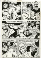 MIKE SEKOWSKY - Ironjaw #1 pg, 1st app. Ironjaw- meets his twin sister - princess 1975 Comic Art