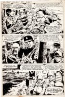 McWILLIAMS, AL - Savage Combat Tales #4 pg 3, Atlas 12 pg Story, General Patton uses decoy for Sicily 1975 Comic Art
