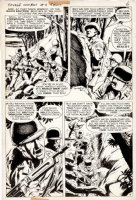 McWILLIAMS, AL - Savage Combat Tales #4 pg 4, Atlas 12 pg Story, General Patton uses decoy for Sicily 1975 Comic Art