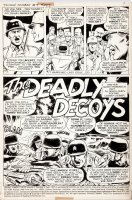 McWILLIAMS, AL - Savage Combat Tales #4 pg 1, Atlas 12 pg Story, General Patton uses decoy for Sicily 1975 Comic Art