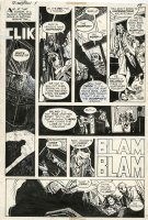 CHAYKIN, HOWARD / SIMONSON ? - Scorpion #1 pg 15, crooks shot the boss 1975 Comic Art