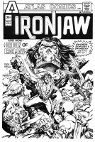 MARCOS, PABLO - Iron Jaw #4 cover Atlas - Origin of hero cover! 1975 Comic Art