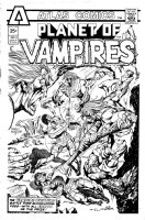 MARCOS, PABLO - Planet of Vampires #4 cover Atlas - cancelled issue 1975 Comic Art