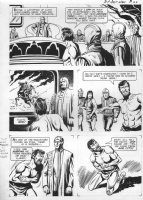 GIOLITTI, ALBERTO - Beneath Planet of the Apes (Gold Key) first ever POTA comic book! page 22, Brent and Nova are brought before the mutant council where Brent is telepathically tortured! Comic Art