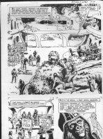 GIOLITTI, ALBERTO - Beneath Planet of the Apes GK pg 7,  Ape city semi-splash 1970 Comic Art