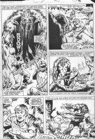 WIACEK, BOB / DON PERLIN - Manthing V2 #5 pg 11, Manthing battles Comic Art