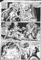 WIACEK, BOB / DON PERLIN - Manthing V2 #5 pg 22, Manthing battles Comic Art