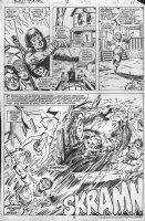 WIACEK, BOB / DON PERLIN - Manthing V2 #4 pg 19, half splash Comic Art