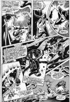 BRUNNER, FRANK - Howard The Duck #1 pg 14, Steve Gerber - classic montage Howard Barbarian & 1st Beverly Comic Art