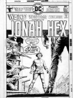 DOMINGUEZ, LUIS - Weird Western #31 cover, Jonah Hex in line of fire Comic Art