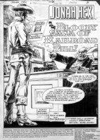DeZUNIGA, TONY / DICK AYERS - Jonah Hex #74 pg 1 splash Comic Art