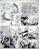EZQUERRA, CARLOS - 2000 AD #277 'Fungus' pg 4, Judge Dredd rides into case 1982 Comic Art