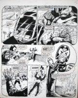 EZQUERRA, CARLOS - 2000 AD #277 'Fungus' pg 5, Judge Dredd drops the Prof,  1982 Comic Art