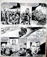 EZQUERRA, CARLOS - 2000 AD #277 'Fungus' last pg, Dredd & Judges wrap up case 1982 Comic Art