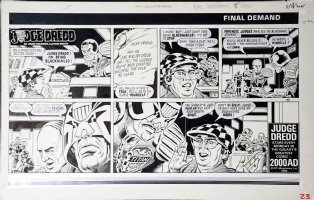 SMITH, RON - Judge Dredd Daily Star Sunday #192 final demand Comic Art