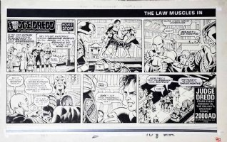SMITH, RON - Judge Dredd Daily Star Sunday #206  The Law Muscles In  Comic Art