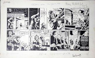 SMITH, RON - Judge Dredd Daily Star Sunday  Mug Patrol  1985 Comic Art