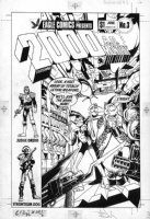 DAVIS, ALAN - 2000 AD #3 cover #3 US cover, Alan Moore' DR & Quinch Judge Dredd Strontium Dog - All hand-drawn by Davis Comic Art