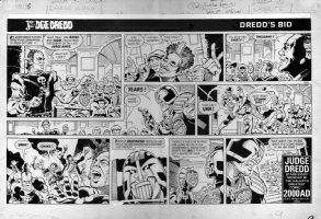 SMITH, RON - Judge Dredd Daily Star Sunday #135, illegel auction, 1984  Comic Art